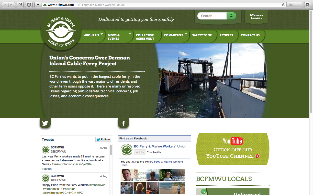 BC Ferry and Marine Workers' Union | Foley Design Studio
